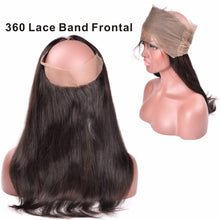 Load image into Gallery viewer, 360 Lace Frontal - Straight- Brazilian Hair Extensions, Arjuni hair, burmese hair, hair supplier, hair exporter, hair frontal wefts, 360 lace frontal -Dynasty Goddess Hair