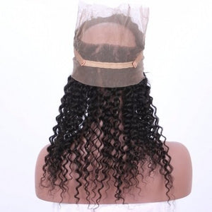 360 Lace Frontal - Deep Curl- Brazilian Hair Extensions, Arjuni hair, burmese hair, hair supplier, hair exporter, hair frontal wefts, 360 lace frontal -Dynasty Goddess Hair