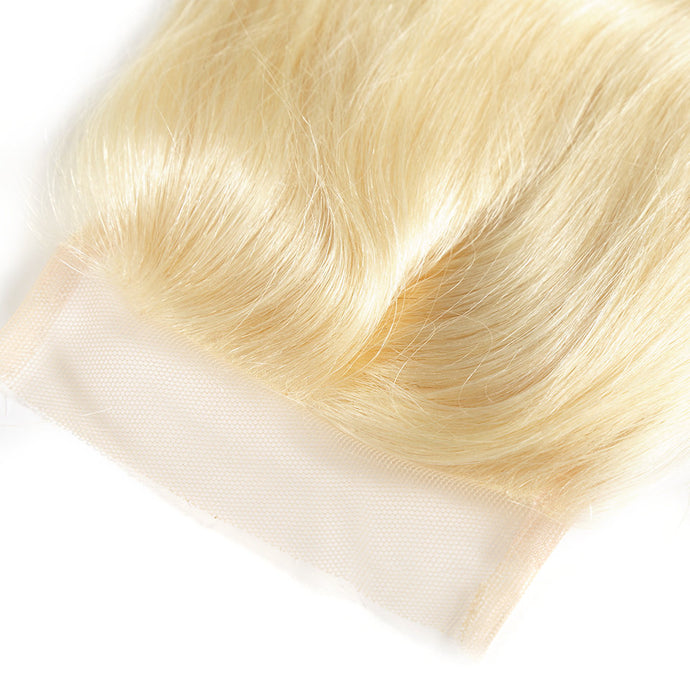 Russian Blonde 613 Lace Closure - Straight- Blonde 613 Hair Extensions, Arjuni hair, burmese hair, hair supplier, hair exporter, hair closure wefts, lace closure -Dynasty Goddess Hair