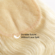 Load image into Gallery viewer, Russian Blonde 613 Lace Closure - Body Wave- Blonde 613 Hair Extensions, Arjuni hair, burmese hair, hair supplier, hair exporter, hair closure wefts, lace closure -Dynasty Goddess Hair