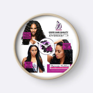 3 Pretty Ladies Wall Clock-Hair Extensions-Dynasty Goddess Hair-Dynasty Goddess Hair
