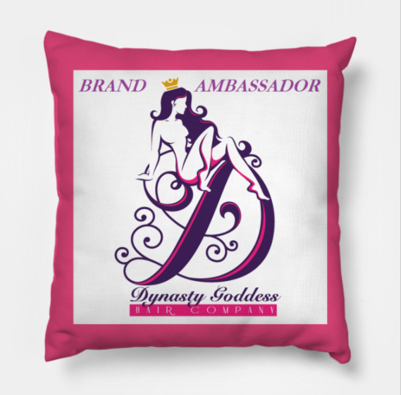 Dynasty Goddess Logo Pillow-Hair Extensions-Dynasty Goddess Hair-Dynasty Goddess Hair