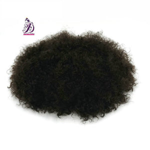 Male Hair Unit Afro Hair Piece - Kinky Wavy- human hair wigs, natural hair, wavy hair, curly hair, straight hair, hair, wig, wigs, wig store, Male Hair Unit, Man Hair Extensions, Hair Toupee,Man Unit -Dynasty Goddess Hair