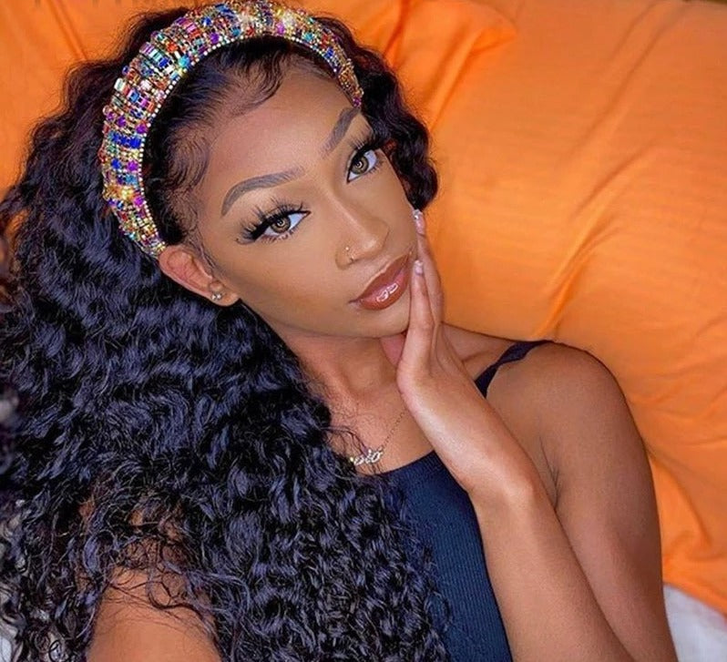 Headband Wigs , Brazilian Body Wave Lace Front Wig- Brazilian Lace Front Wig Hair extensions, body wave, human hair wigs, natural hair, wavy hair, curly hair, straight hair, hair, wig, wigs, wig store -Dynasty Goddess Hair