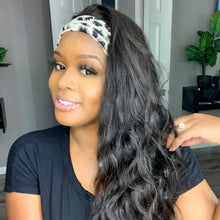 Load image into Gallery viewer, Headband Wigs , Brazilian Body Wave Lace Front Wig- Brazilian Lace Front Wig Hair extensions, body wave, human hair wigs, natural hair, wavy hair, curly hair, straight hair, hair, wig, wigs, wig store -Dynasty Goddess Hair