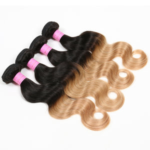 Ombre Honey Brazilian Hair Extensions, Arjuni hair, burmese hair, hair supplier, hair exporter, hair frontal wefts, 360 lace frontal-Dynasty Goddess Hair