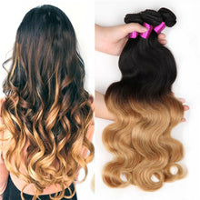 Load image into Gallery viewer, Ombre Honey Brazilian Hair Extensions, Arjuni hair, burmese hair, hair supplier, hair exporter, hair frontal wefts, 360 lace frontal-Dynasty Goddess Hair