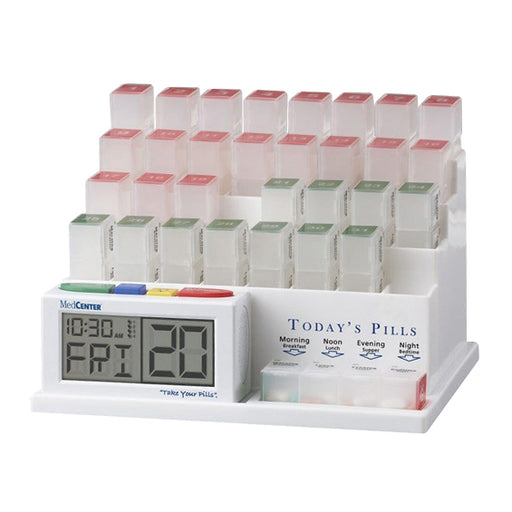 Medcenter 31 Day Pill Organizer With Reminder System