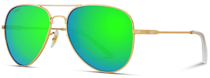 1008 Mirrored Polarized Aviator Sunglasses