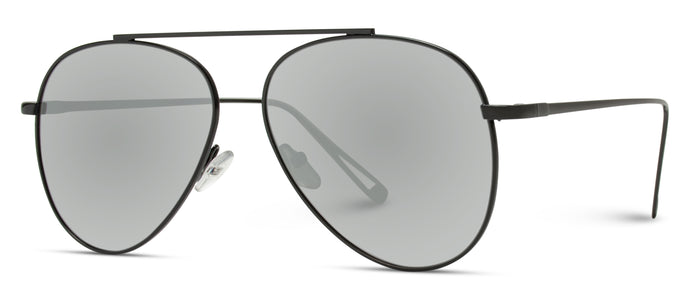 AVI009 Riley - Modern Bridgeless Aviator Sunglasses