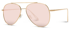 Gold Frame Pink Lens Modern Wholesale Aviators