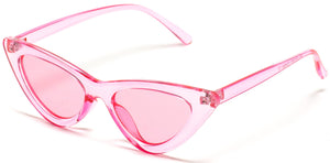 All Pink Cat-eye Style Wholesale Sunglasses