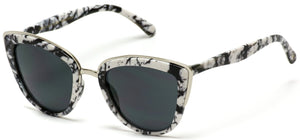 CAT030 Marble Frame Women Modern Cat Eye Sunglasses