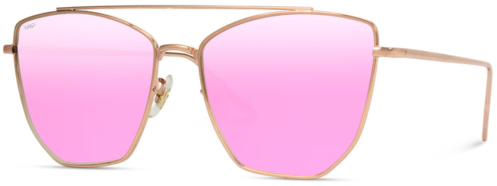 CAT065  Top Bar Oversized Cat-eye Sunglasses