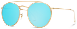RET001 Double Bridge Metal Round Sunglasses