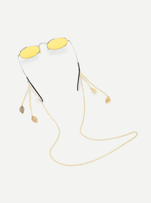 C01 Leaf Gold Glasses Metal Chain