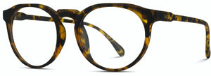 BL088  Round Flat Top Frame Soft Tortoise Frame Blue Light Blocking Glasses
