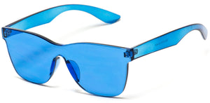 Blue Frame Transparent Square Frame Shades