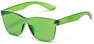 Green Frame Colorful Square Frame Sunglasses