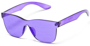 Purple Frame Transparent Sunglasses