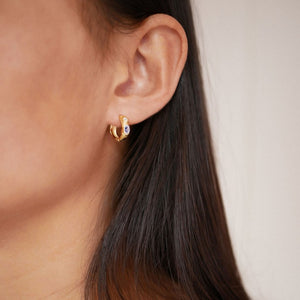 ENAMEL Copenhagen Hoops, Leonora Earrings 925S/GP