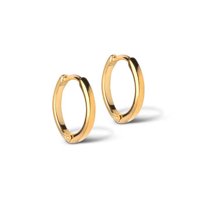ENAMEL Copenhagen Hoops, Classic 10 mm Earrings 925S/GP