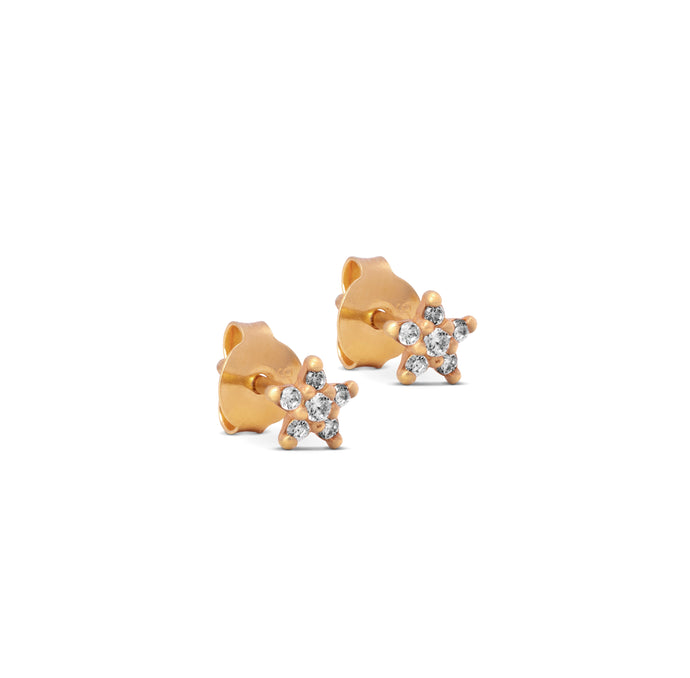 ENAMEL Copenhagen Stud, Fleur Earrings 925S/GP