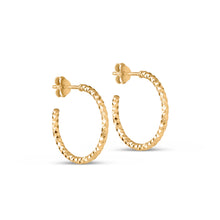 ENAMEL Copenhagen Hoops, Diamond Cut Small Earrings 925S/GP