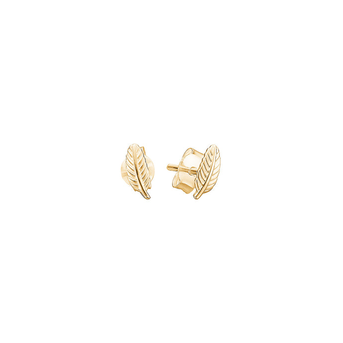 ENAMEL Copenhagen Stud, Leaf Earrings 925S/GP