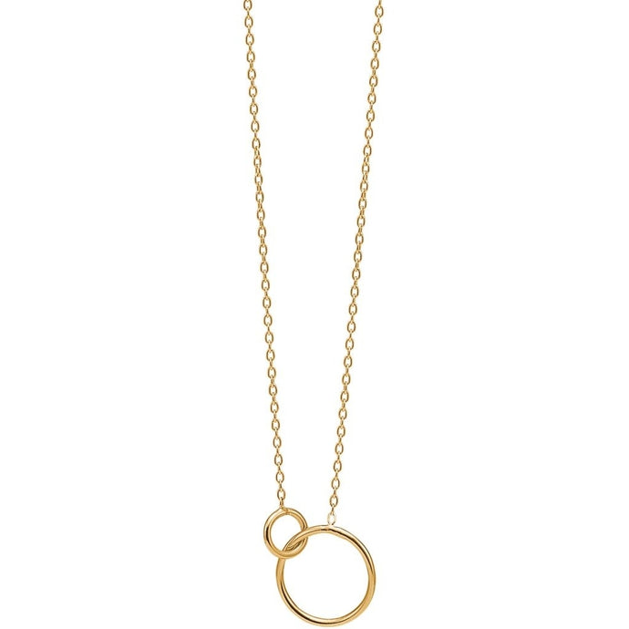 ENAMEL Copenhagen Necklace, double circle Necklaces 925S/GP