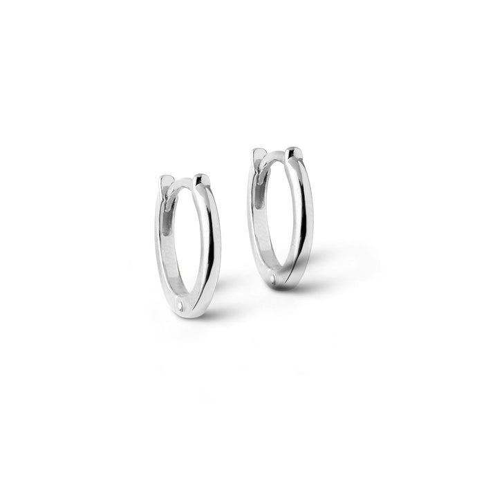 ENAMEL Copenhagen Hoops, Classic 8 mm Earrings 925S