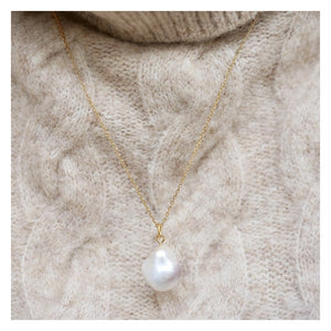 ENAMEL Copenhagen Necklace, Baroque Pearl Necklaces 925S/GP/M