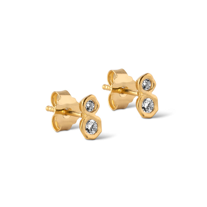 ENAMEL Copenhagen Stud, Ivy Earrings 925S/GP/M