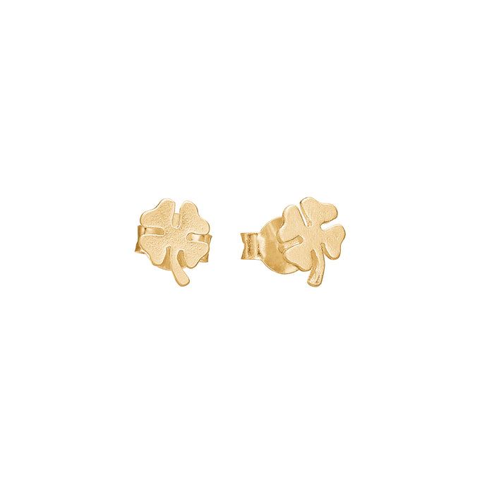 ENAMEL Copenhagen Stud, Clover Earrings 925S/GP/M