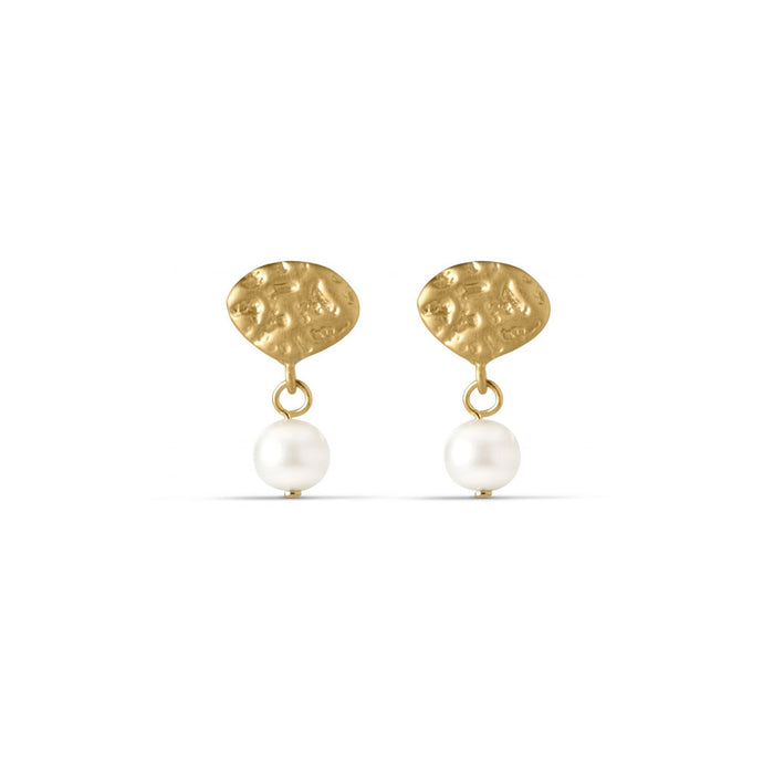 ENAMEL Copenhagen Earring, Pearl Drop Earrings 925S/GP/M