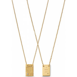 ENAMEL Copenhagen Necklace, I love You Necklaces 925S/GP/M