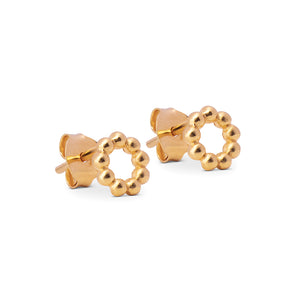 ENAMEL Copenhagen Stud, Auda Earrings 925S/GP/M