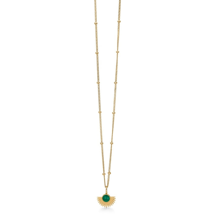 ENAMEL Copenhagen Necklace, Soleil Necklaces 42 Petrol Green