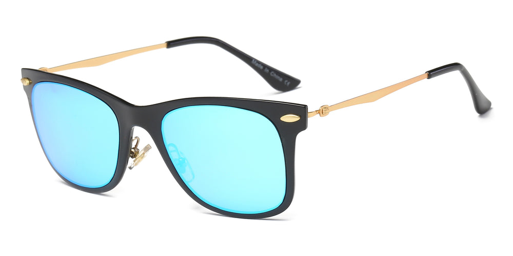 Men Classic Retro Vintage Square Mirrored UV Protection Fashion Sunglasses