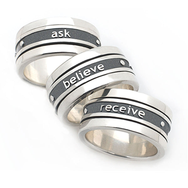 Ask • Believe • Receive Prosperity Spin Ring