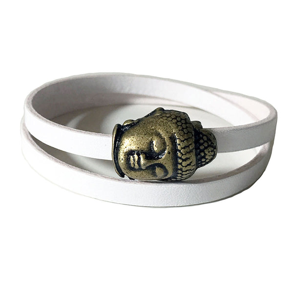 CHAK-WRAPS™ Buddha Infinity Brass Leather Bracelet
