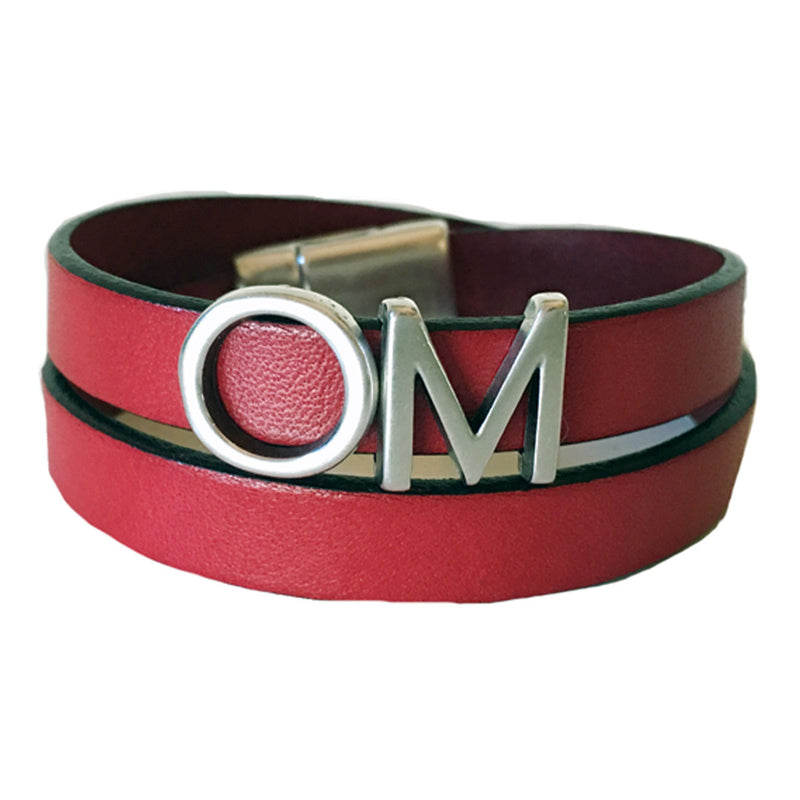 CHAK-WRAPS™ OM Silver Leather Bracelet