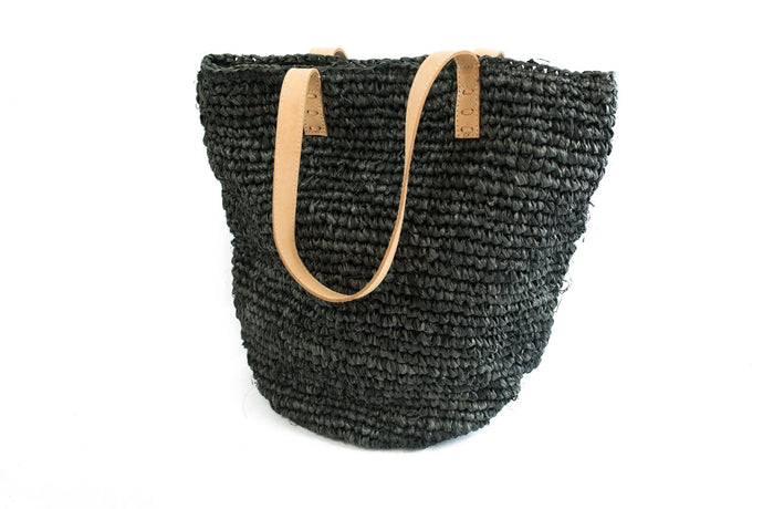 Beach bag in charcoal