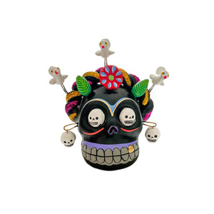 Ceramic Frida Skull - Black