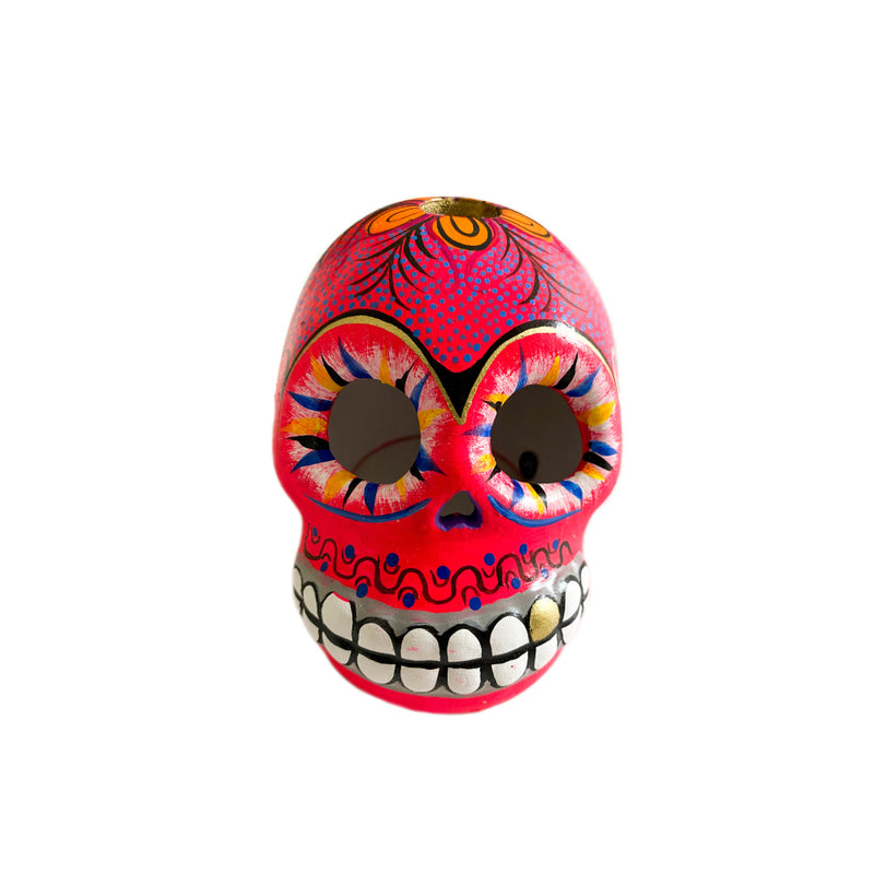 Small Ceramic Skull - Hot Pink