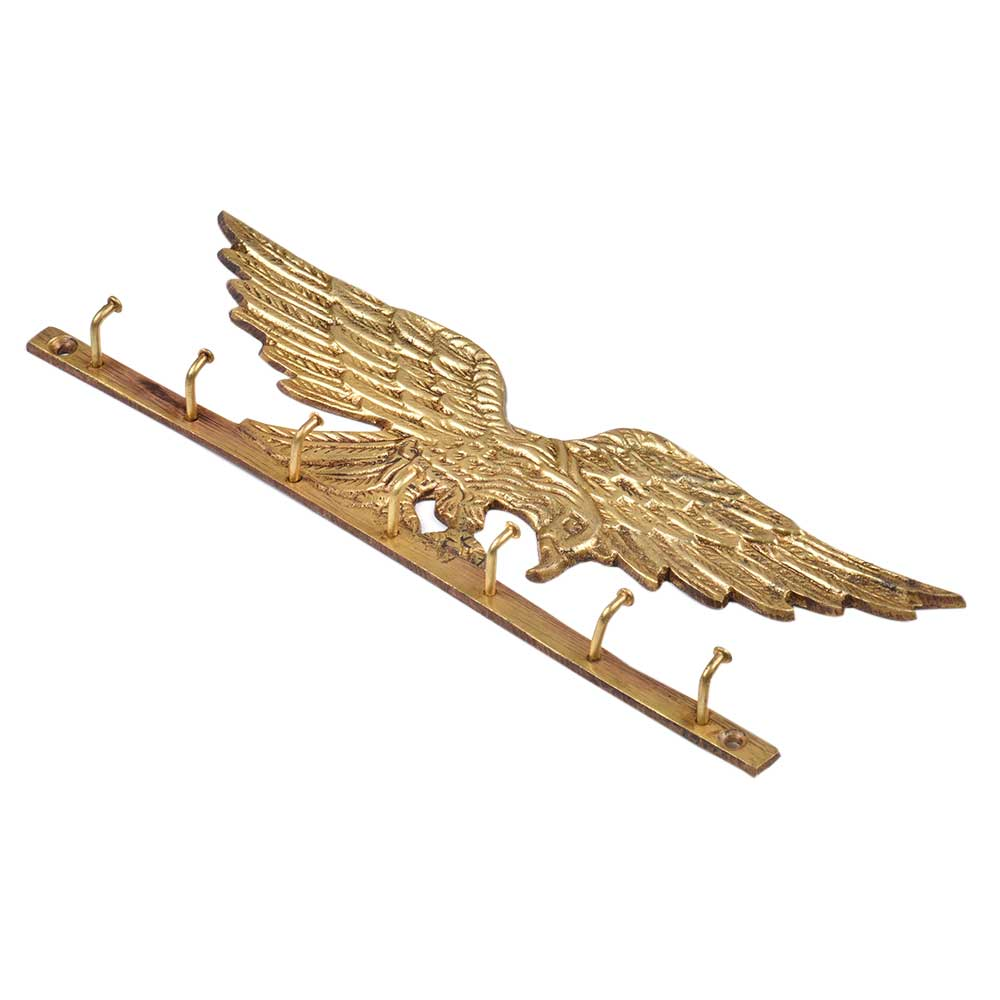 Brass Eagle Wall Hook - golden