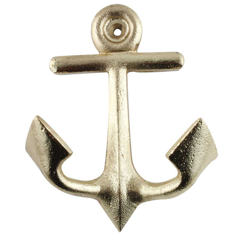 Iron Anchor Wall Hook - Golden