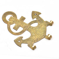 Brass Anchor Wall Hook - golden