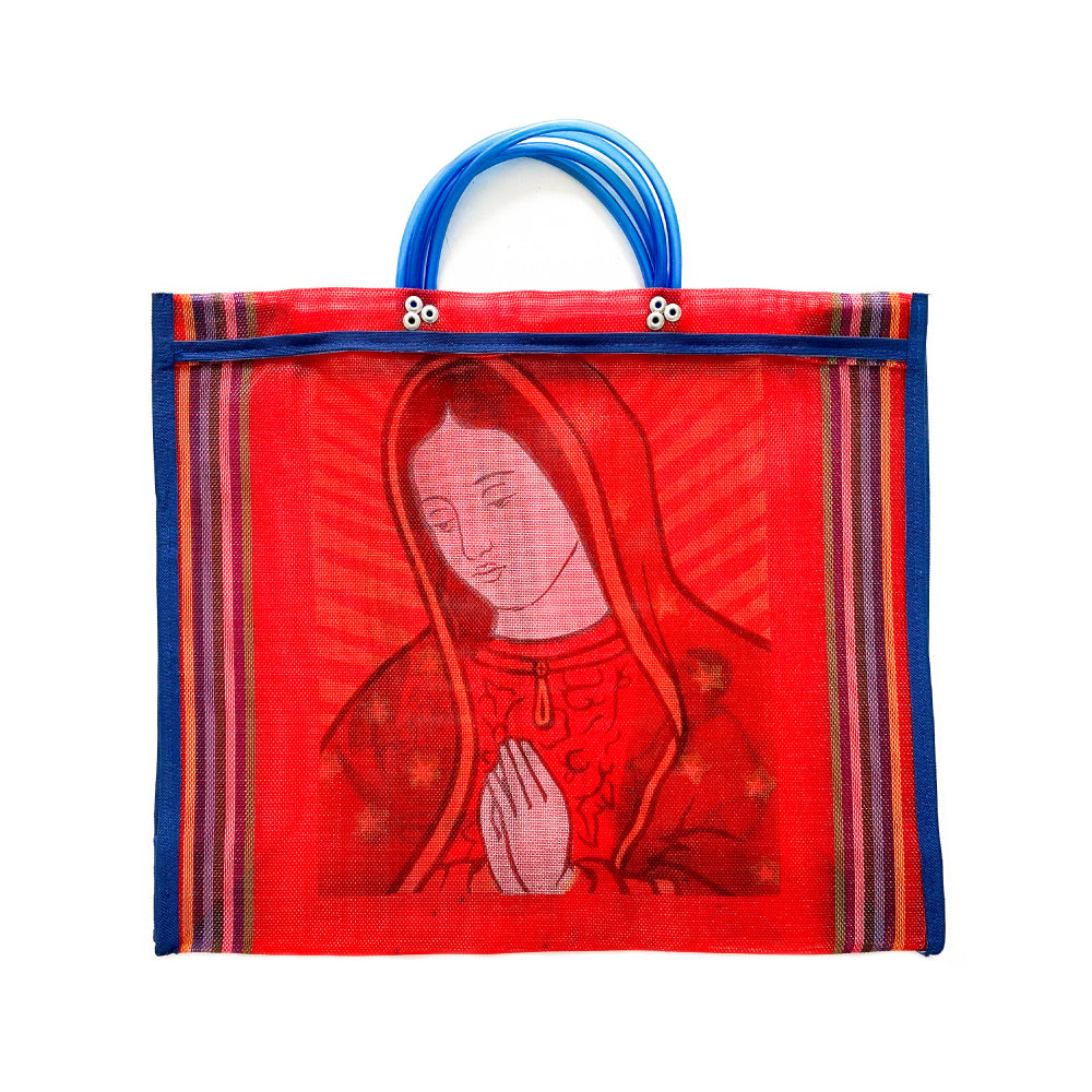 Guadalupe Mesh Mecardo Bag - Red