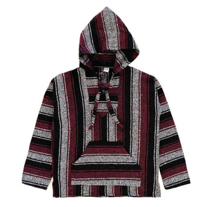 Men's Baja - Large Charcoal & Burgundy